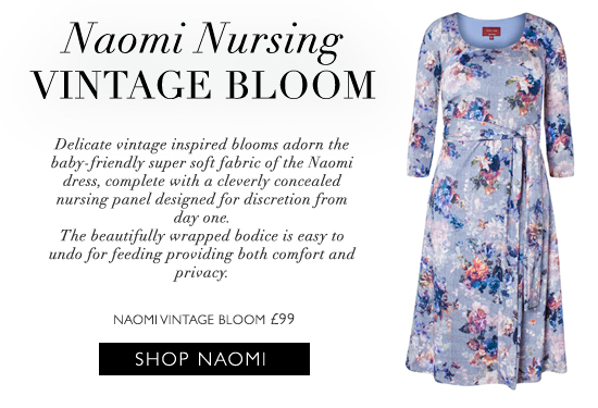 Naomi Nursing Dress in Vintage Bloom