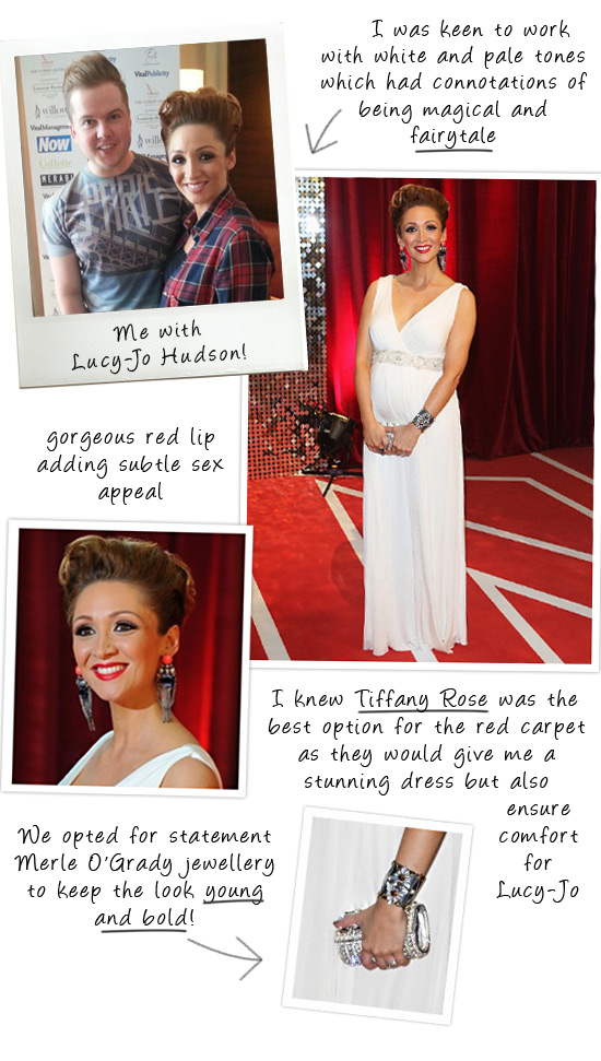 Creating Lucy Jo Hudson's red carpet style
