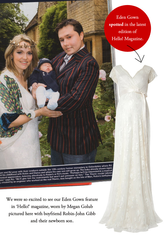 Eden Gown makes it into Hello! Magazine.