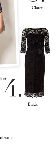 Amelia Lace Maternity Dress (Black)