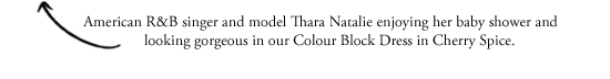 Thara Natalie, Colour block Dress Cherry Spice