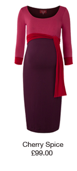 Colour Block Dress Cherry Spice