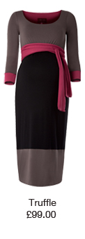 Colour Block Dress Truffle