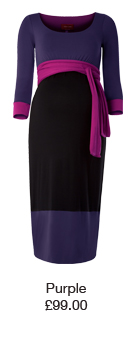 Colour Block Dress Purple