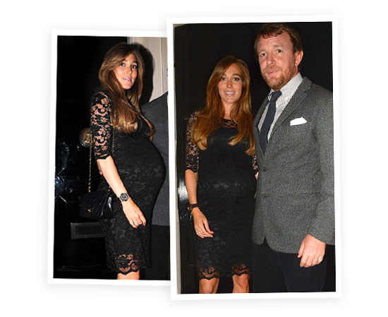 Jacqui Ainsley and her blossoming bump