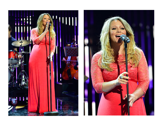 Kimberley Walsh wearing the Valencia Gown in Sunset Red in the opening ceremony of the Tour De France