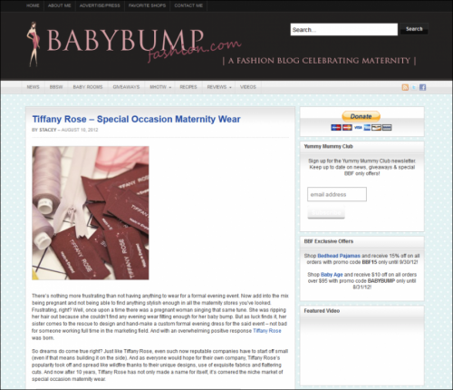 Baby Bump Fashion Visit