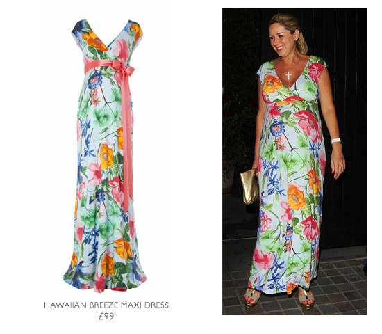 Claire Glows On Her Night Out In Our Hawaiian Maxi Dress - Tiffany ...
