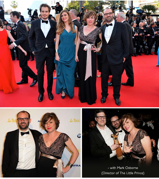 Aurelia Rivière Gusman wearing our lovely Rosa Gown at the Cannes Film Festival