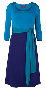 Naomi Nursing Dress Biscay Blue