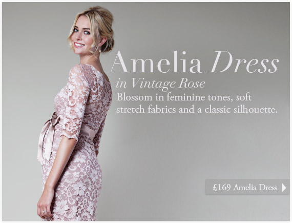 Amelia Dress Short (Vintage Rose) by Tiffany Rose