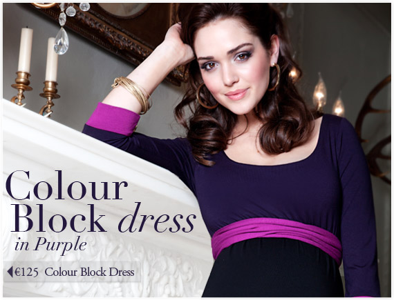 Colour Block Dress (Purple) by Tiffany Rose