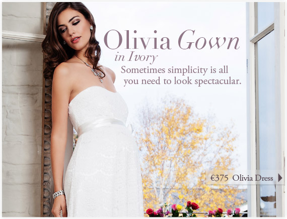 Olivia Gown (Ivory) by Tiffany Rose