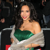 Myleene Klass wearing the Emerald Maternity Gown by Tiffany Rose at the Night of Heroes 2010