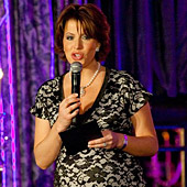 Natasha Kaplinsky wearing the Grace Dress (Black) by Tiffany Rose hosting the English National Ballet