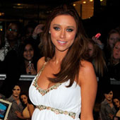 Una Healy wearing the Grecian Dress by Tiffany Rose at the Twilight Breaking Dawn Premiere