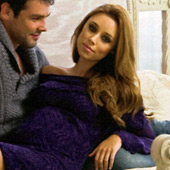 Una Healy wearing the Juniper Maternity Jumper Dress by Tiffany Rose in Hello Magazine
