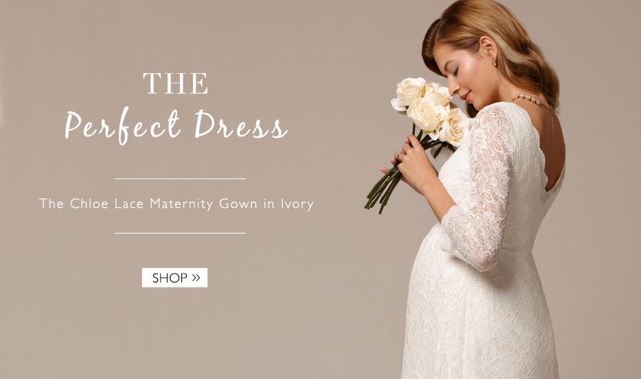 maternity clothing chldis chloe lace wedding dress ivory