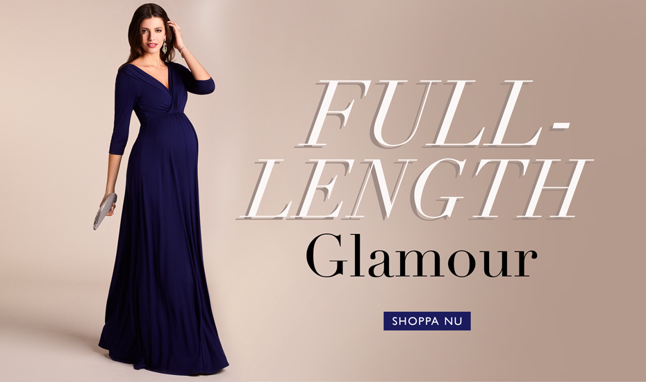 Willow Maternity Gown Long Eclipse Blue