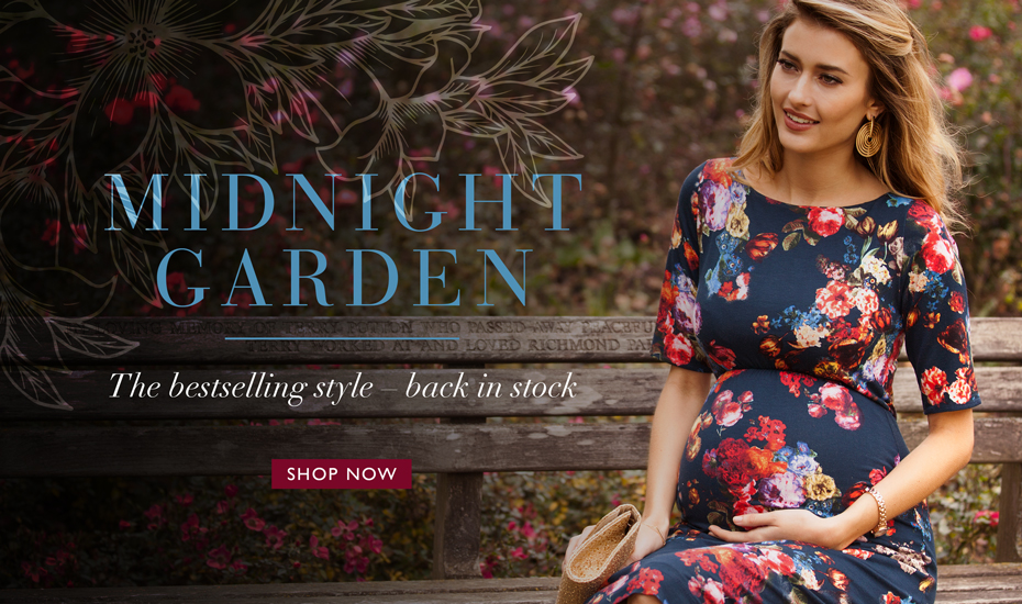Anna Maternity Shift Dress Midnight Garden