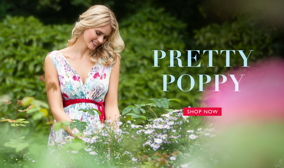 Anastasia Maternity Gown Long Poppy