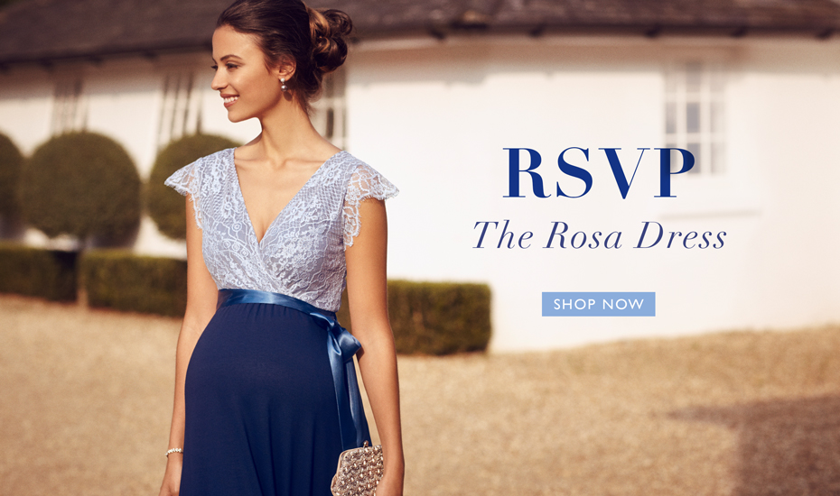 Rosa Maternity Gown Long Infinity Blue
