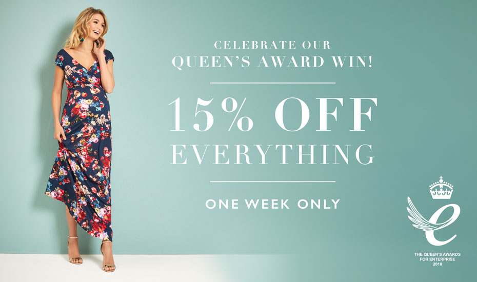 Celebrate with us - 15% Off Everything