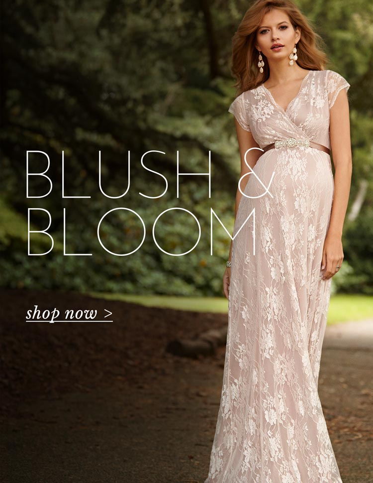 Eden Maternity Gown Long Blush