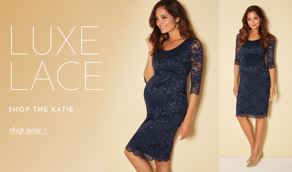 Katie Maternity Dress Short (Navy)
