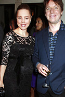 Melissa George wearing the Amelia Dress Short (Black)