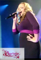 Charlotte Church wearing the Colour Block Dress (Purple)