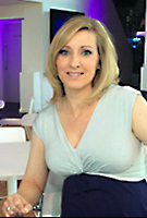 Vicky Gomersall  wearing the Clara Dress Short (Aqua Marine)