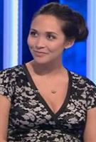 Myleene Klass wearing the Grace Dress (Black)