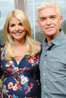 Holly Willoughby wearing the Lara Dress (Midnight Garden)
