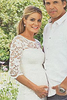 Charlotte Jackson wearing the Amelia Dress Long (Ivory)