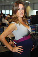 Natalie Pinkham wearing the Jewel Block Dress (Eclipse)