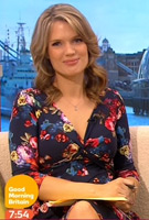 Charlotte Hawkins wearing the Lara Dress (Midnight Garden)