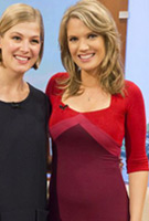 Charlotte Hawkins wearing the Alexa Dress (Lipstick Rouge)