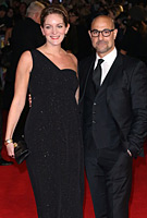 Felicity Blunt and Husband Stanley Tucci at the Hunger Games: Mockingjay (Part 1) Premiere in London