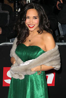 Myleene Klass wearing the Emerald Gown with Black Lace Sash