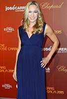 Dr. Christine Theis wearing the Anastasia Gown Long (Eclipse Blue)