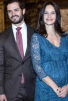 Princess Sofia of Sweden wearing the Chloe Lace Dress (Dragonfly)