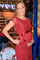 Christine Theiss wearing the Emma Shift Dress (Scarlet)