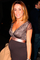 Natalie Pinkham wearing the Rosa Dress (Mocha)