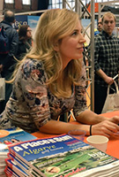 Jasmine Harman wearing the Naomi Nursing Dress (Vintage Bloom)