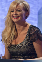 Emma Bunton wearing the Flutter Dress Short (Black)