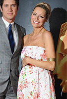 Tess Daly wearing the Clementine Maternity Gown by Tiffany Rose
