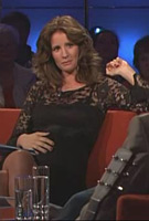 Mareile Höppner wearing the Chloe Maternity Dress (Black) on MDRs Riverboat Show