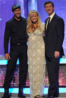 Emma Bunton on Dancing on Ice wearing the Grace Dress (Ivory/Long) by Tiffany Rose