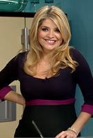 Holly Willoughby wearing the Colour Block Maternity Dress by Tiffany Rose